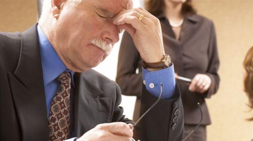 Stres, práca, úradník, únava