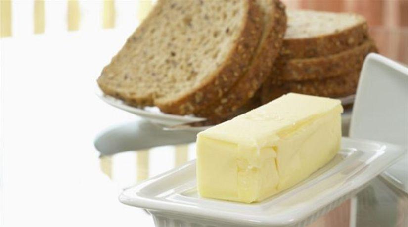 maslo - chlieb - raňajky