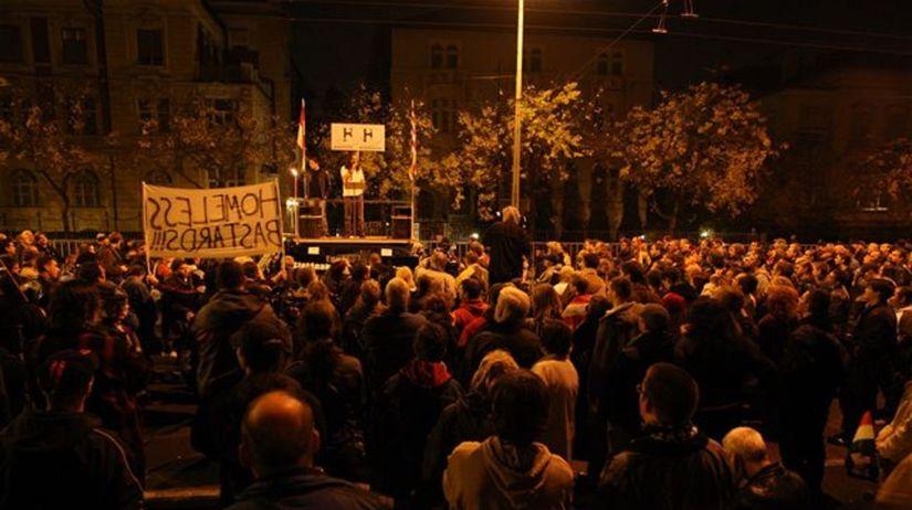 Demonštrácia v Budapešti