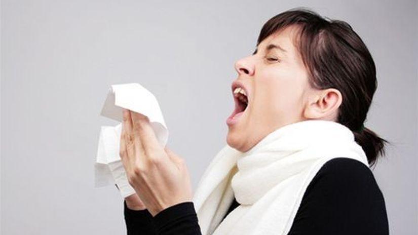 nádcha - kýchanie - prechladnutie - chrípka