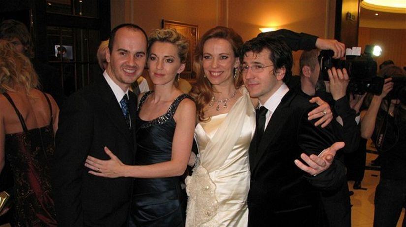 Igor Timko s manželkou a Diana Mórová, Juraj Mokrý