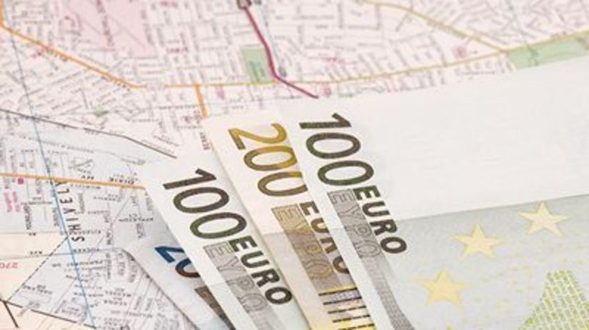 Peniaze, mapa