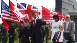 Normandia, oslavy, Obama