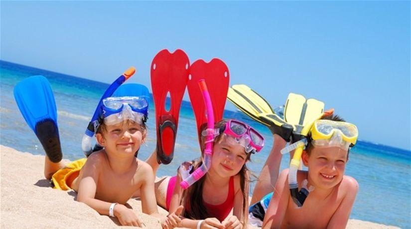 dovolenka, more, pláž, deti, leto
