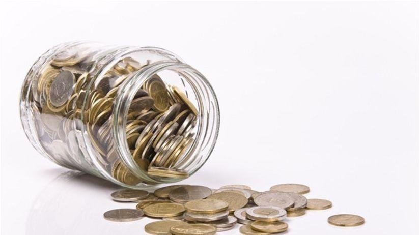 euro, euromince, mince, fľaša, úspory