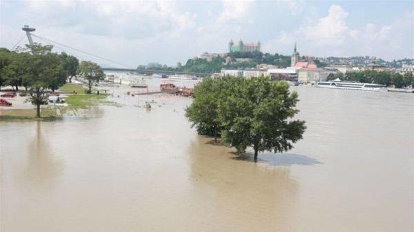 povodne, Dunaj, Tyršovo nábrežie