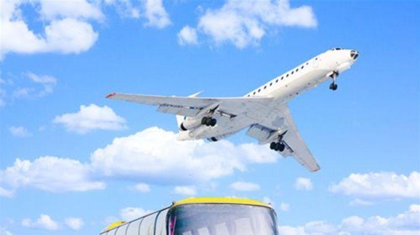 autobus - lietadlo - dovolenka - doprava