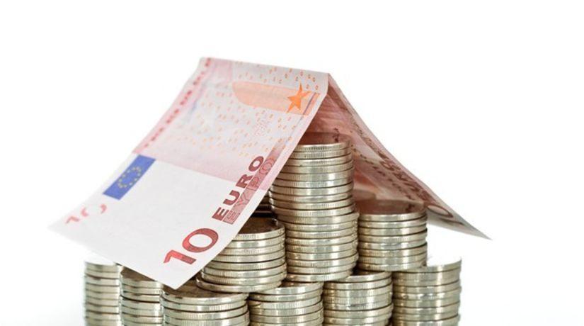 peniaze, euro, hypotéka, dom