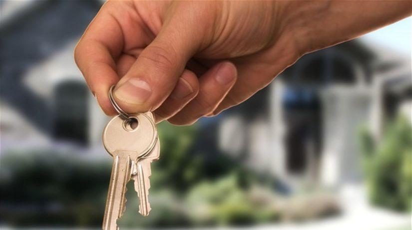 kľúče, ruka, bývanie, reality, dom, byt