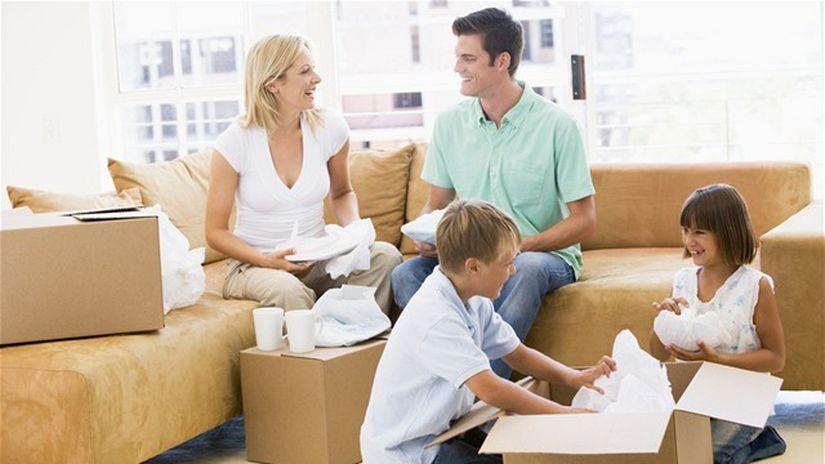 hypotéka, rodina, rodičia, deti