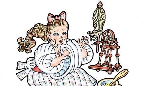 Zlatá priadka, ilustrácia z knihy Ako šla rozprávka do sveta, Ikar