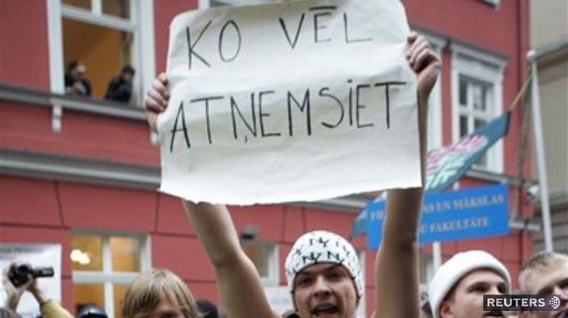 Lotyšsko, demonštrácia