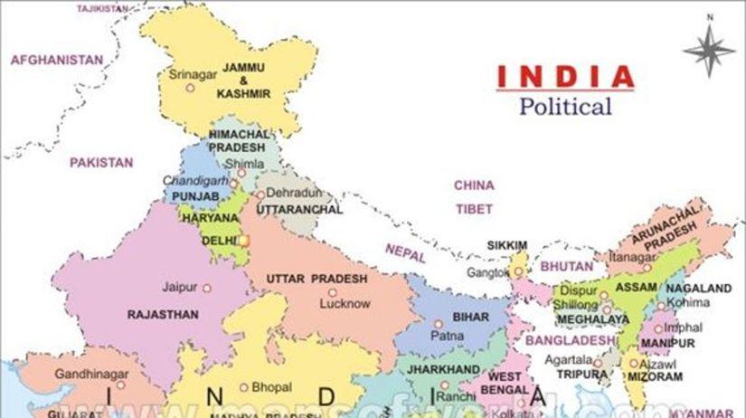 India, mapa