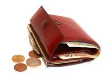 peňaženka, peniaze, euro, mince, výdavky