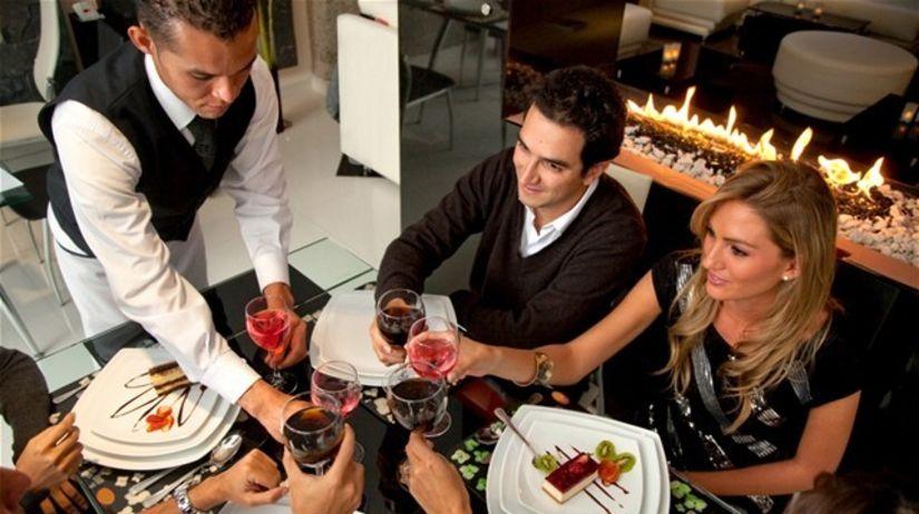 reštaurácia, zákusok, čašník, jedlo, víno