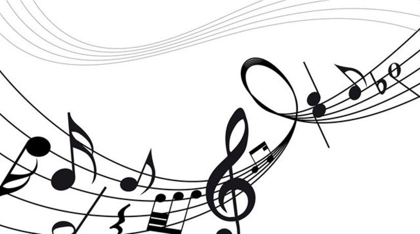 noty, notová asnova, huslový kľúč