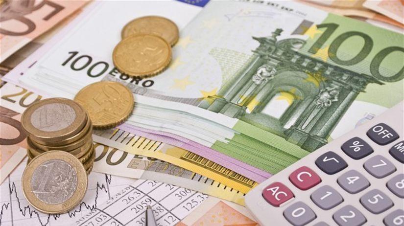 investovanie, euro, mince, graf, kalkulačka