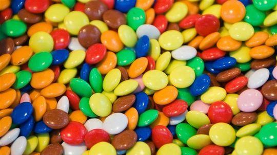lentilky, cukríky
