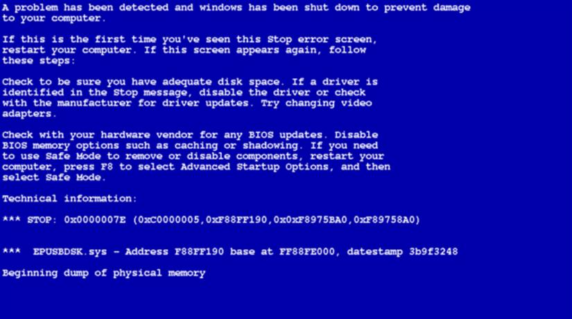 BSOD, Blue Screen of Death, Microsof, Windows,...
