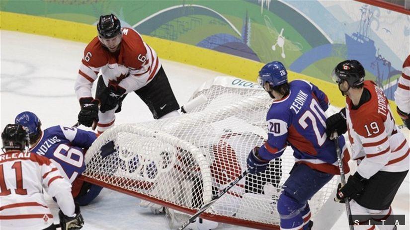 Kanada Slovensko Luongo bránka