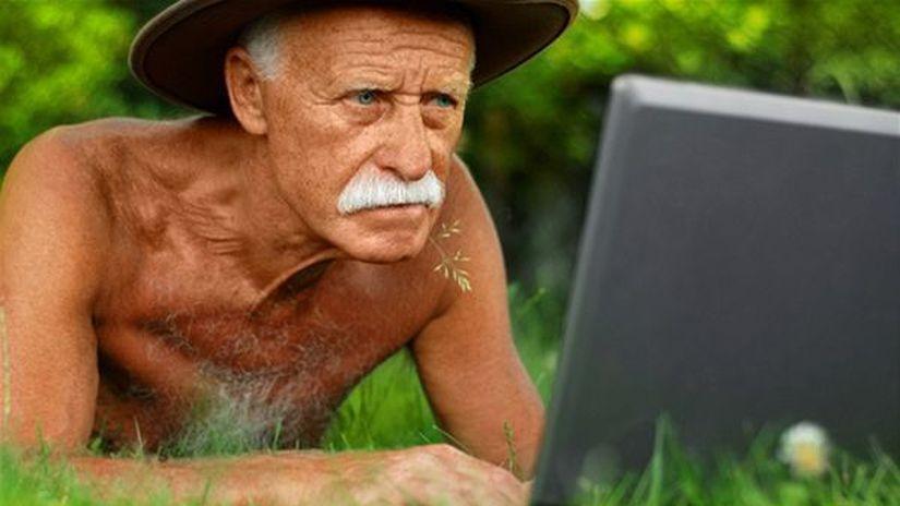 viagra, muž, starec, počítač, web, spam,...