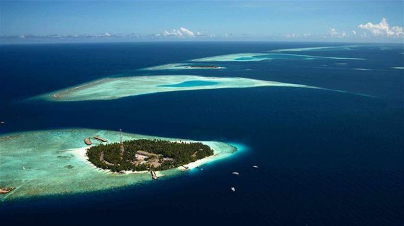 Maledivy, ostrov, more, oceán, pláž, raj