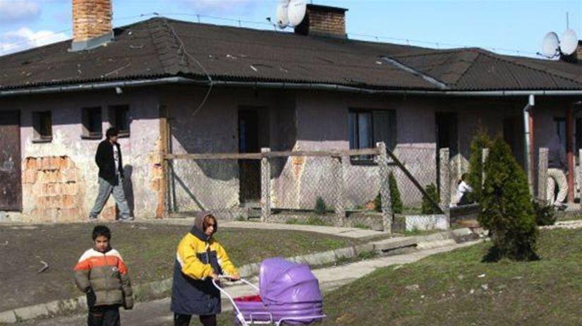 Rómovia, osada, cigáni, rómske deti
