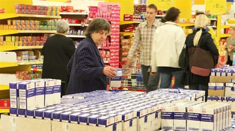 mlieko, nákup, obchod, potraviny, akcia,...