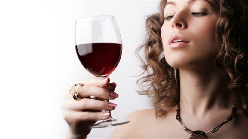 žena, alkohol, drink, víno, červené, party,...