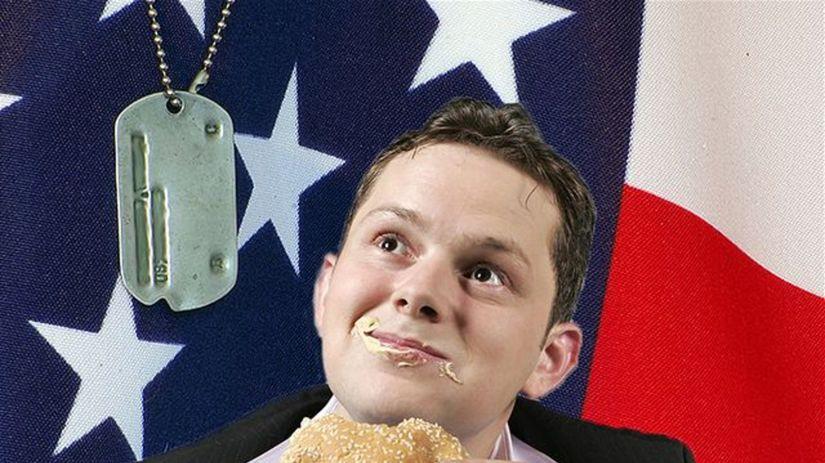 tučný Američan