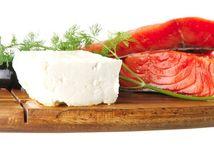 losos, syr, jedlo, potraviny