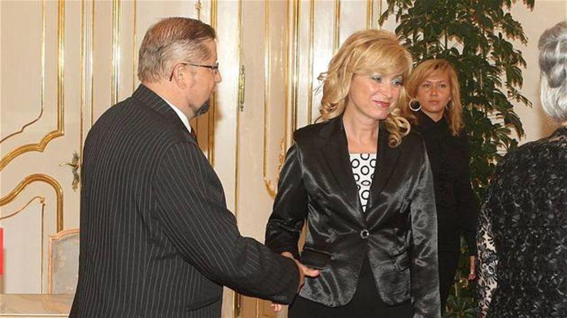 Štefan Harabin, Viera Petríková