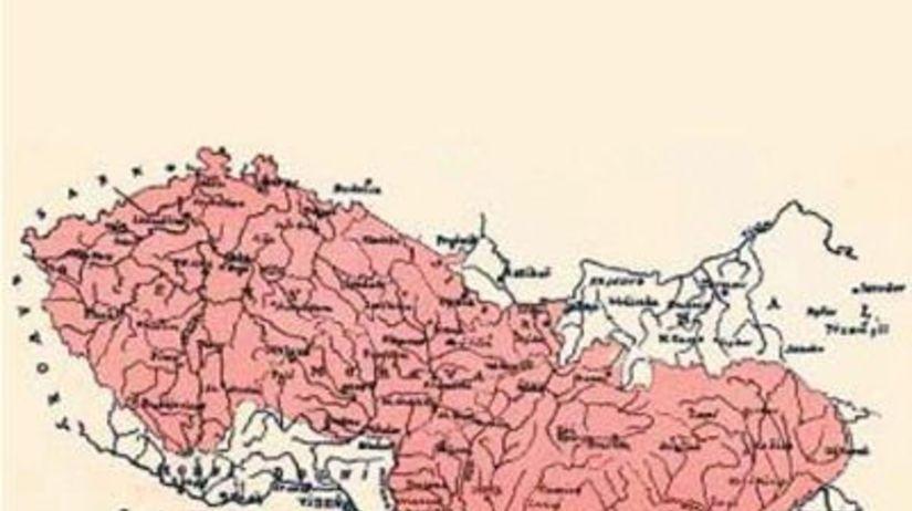 Československo - mapa