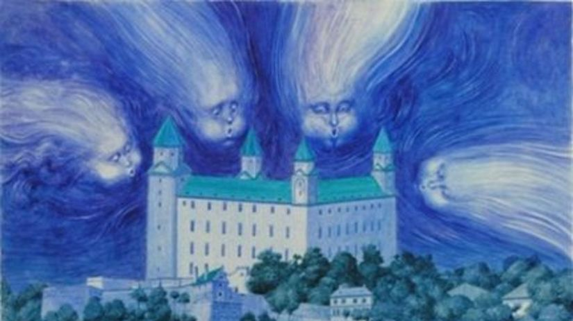 Albín Brunovský, ilustrácia z Modrej knihy...