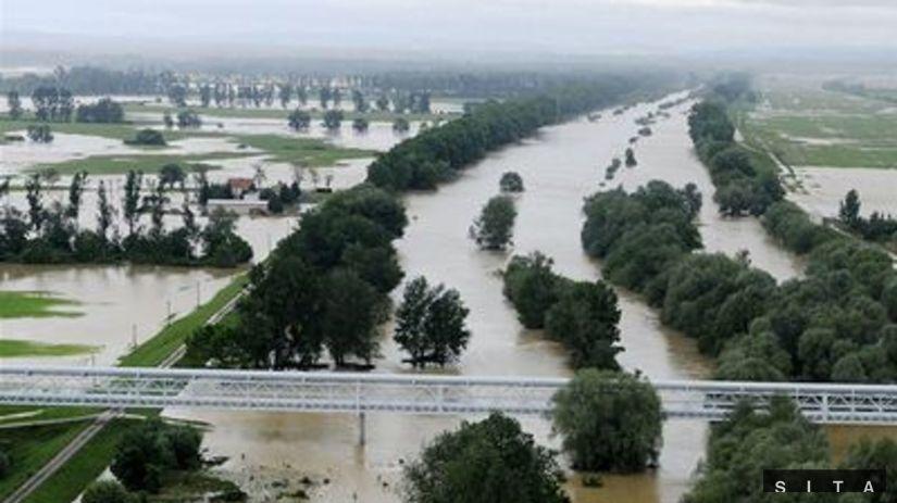 Záplavy v okolí Trebišova