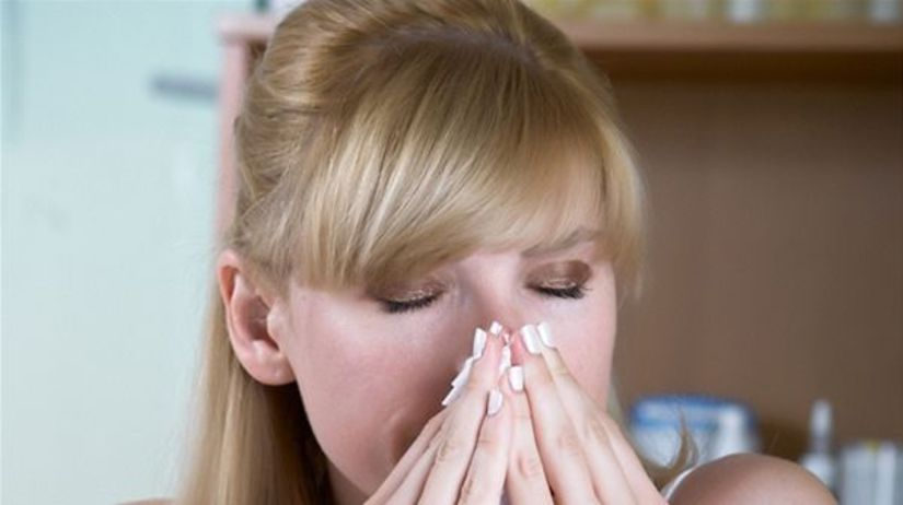 nos, nádcha, kvapky, prechladnutie