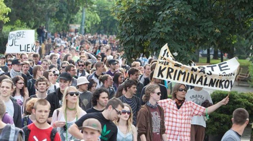 Protest, marihuana