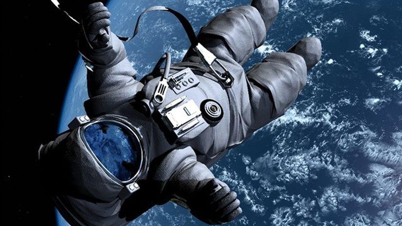 vesmír, kozmonaut, bezváhový stav, pád, astronaut
