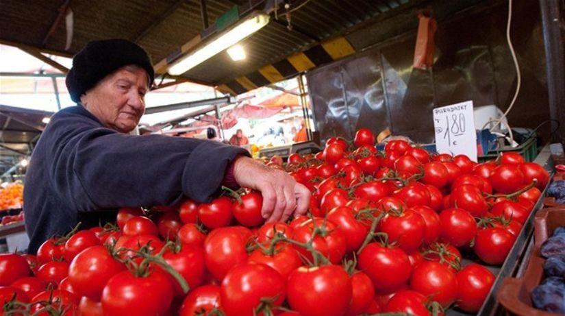 zelenina, paradajky, trh, tržnica