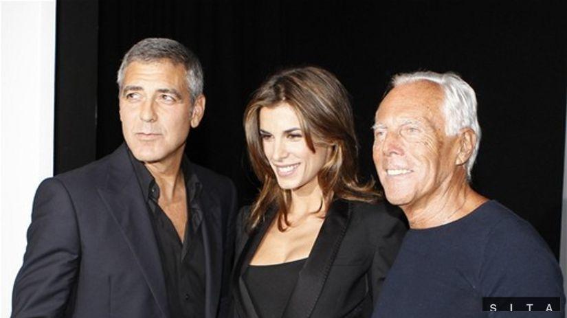 George Clooney, Elisabetta Canalis, Giorgio...