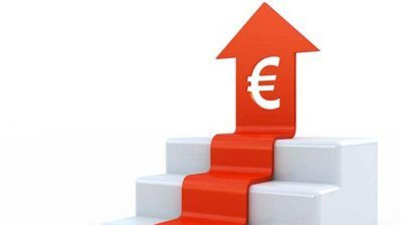euro, graf, rast, peniaze