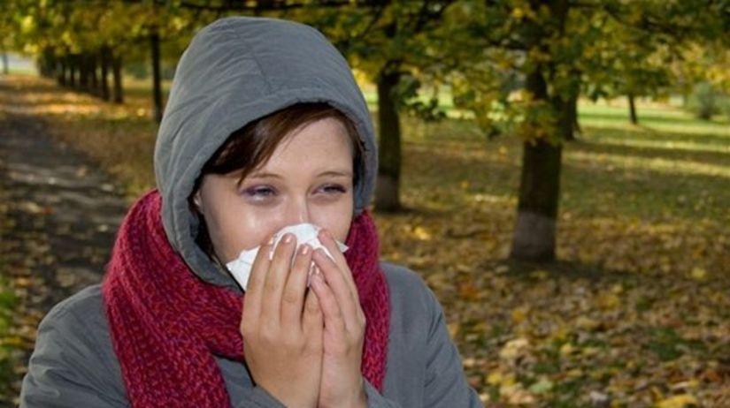 jeseň, nádcha, prechladnutie, chrípka, vírus,...