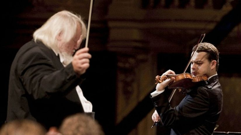 Dirigent Leif Segerstam a husľový virtuóz...