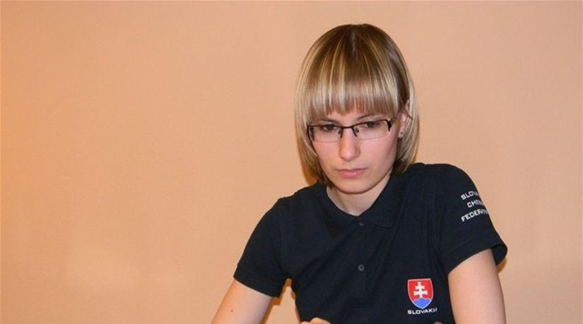 Mladá slovenská šachistka Zuzana Borošová, šach