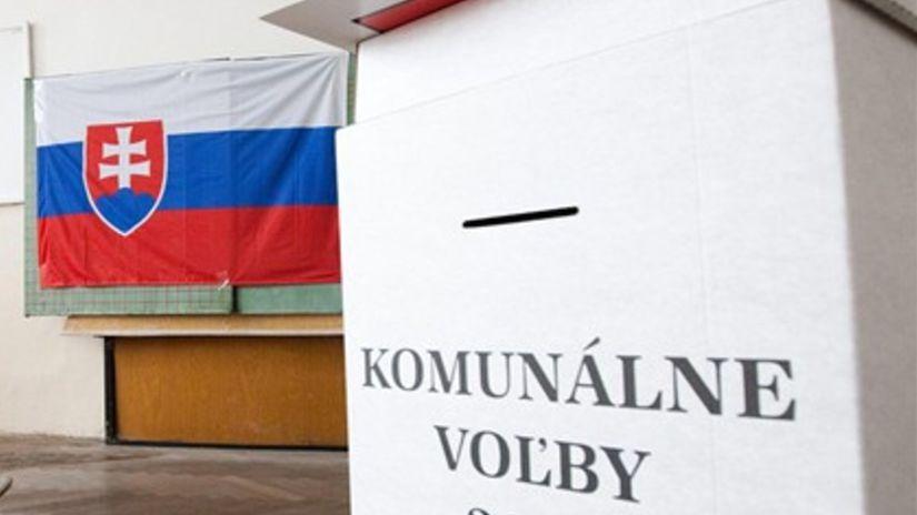 komunálne voľby, slovensko, vlajka, urna