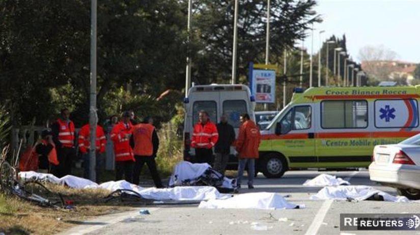 Taliansko, nehoda, cyklisti