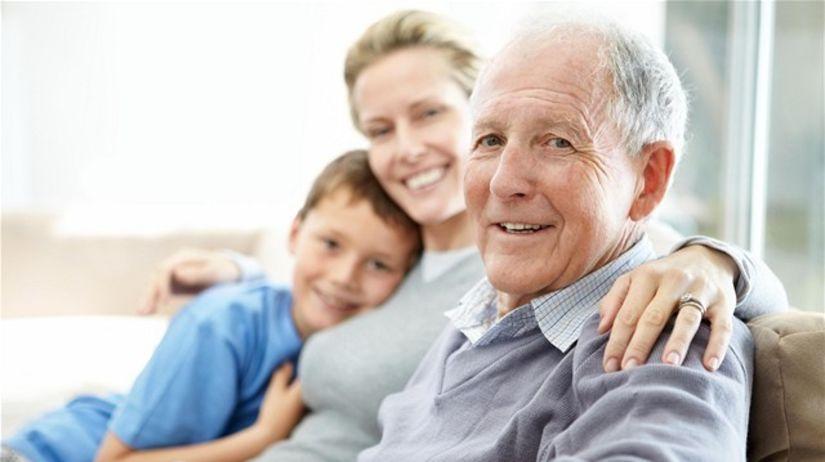 rodina, dôchodok, penzia, dôchodca, dieťa