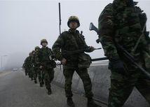 južná kórea, vojaci, cvičenie
