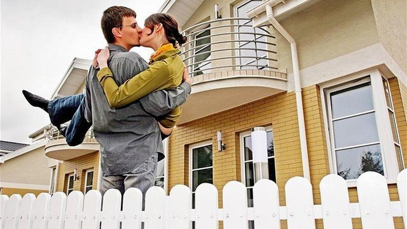 dom, hypotéka, manželia, novomanželia,...