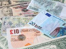 Peniaze, libra, dolár, euro